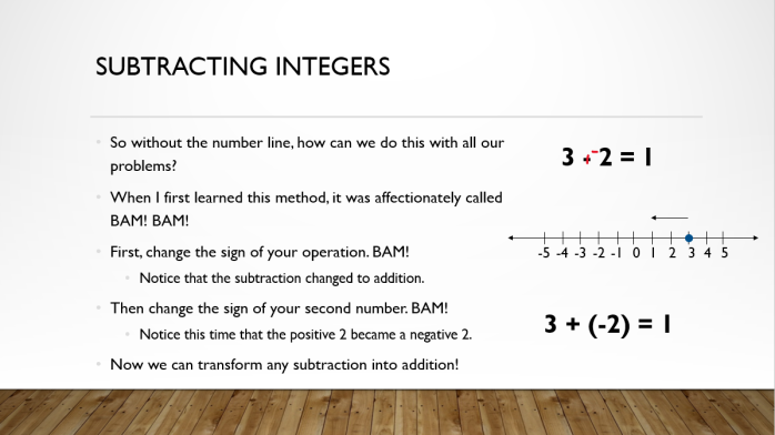 Add and Sub Integers 12