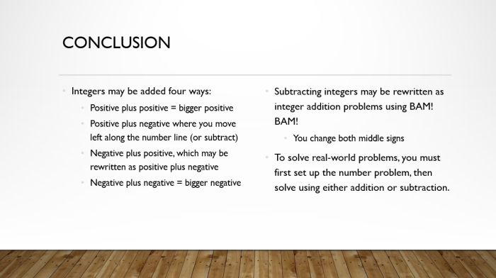 Add and Sub Integers 16