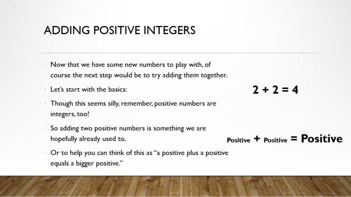 Add and Sub Integers 2