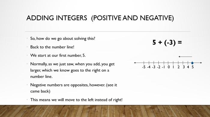 Add and Sub Integers 4