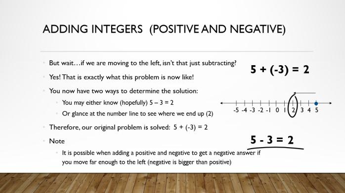 Add and Sub Integers 5