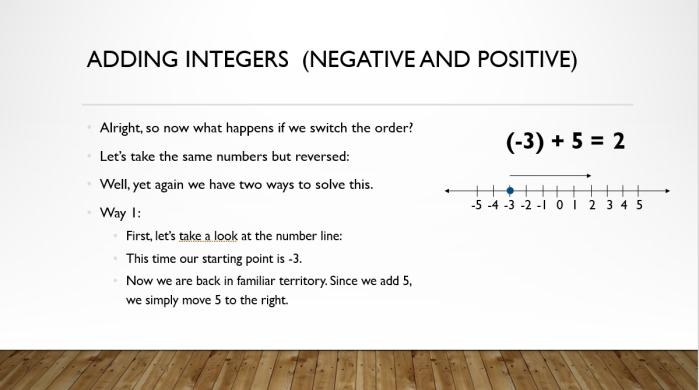 Add and Sub Integers 6