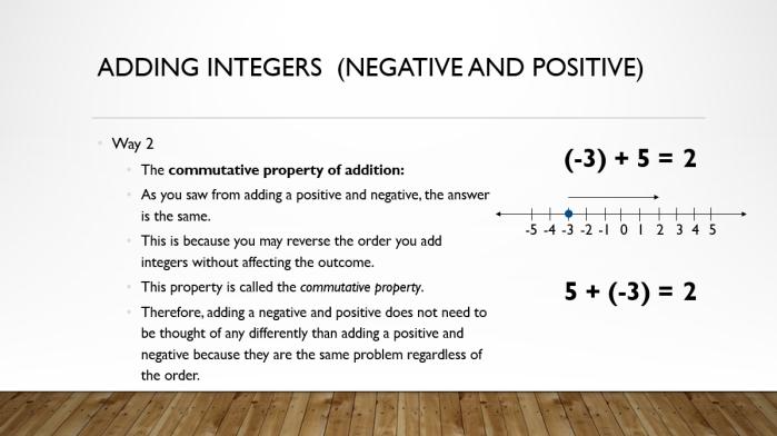 Add and Sub Integers 7
