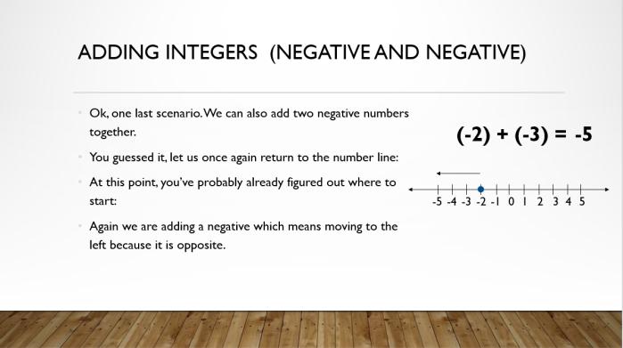 Add and Sub Integers 8