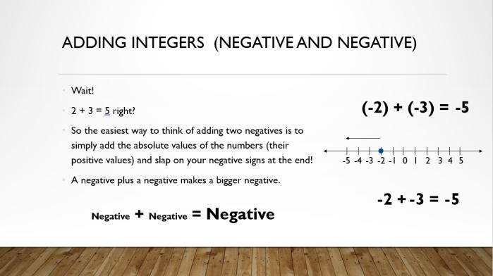 Add and Sub Integers 9