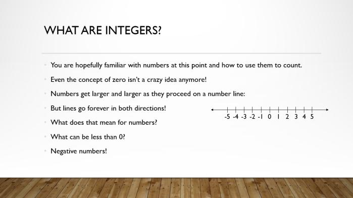 Integers Basics 2