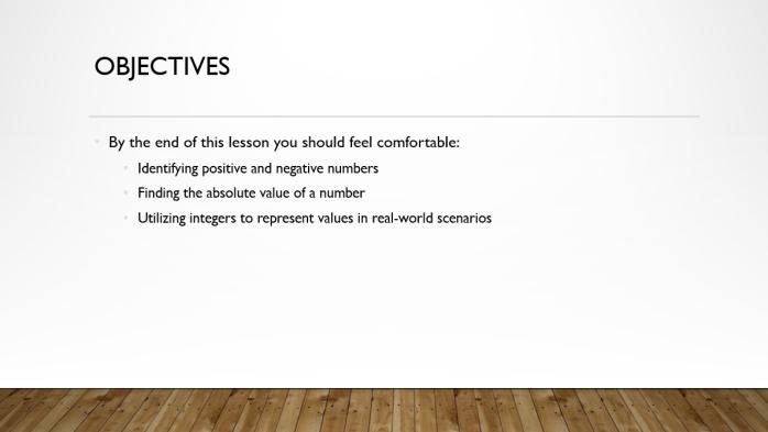 Integers Basics