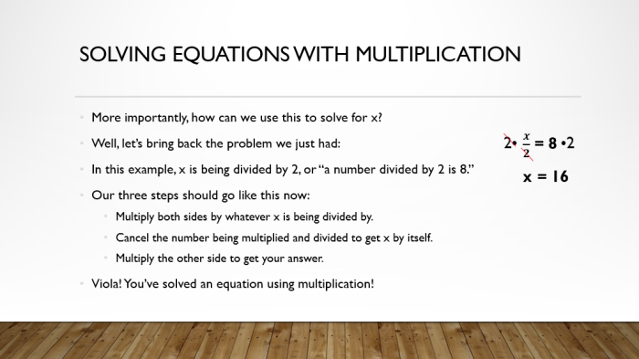 Solve by Mult 3